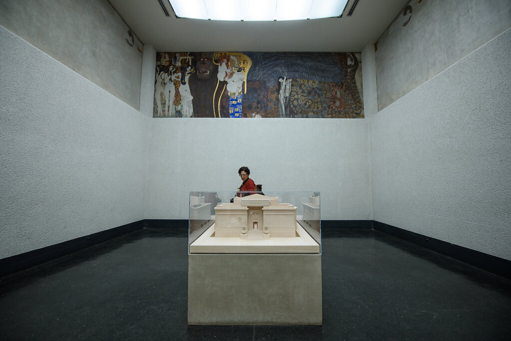 Beethoven Frieze; and a Model of Secession Buidling, Vienna, Aus