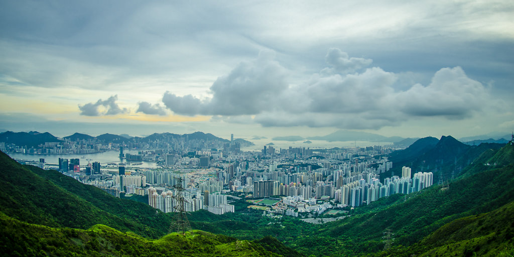 Cityscape from Kowloon Peak, Hong Kong