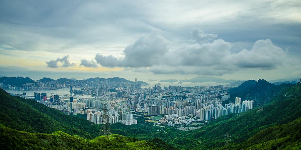 Cityscape from Kowloon Peak, Hong Kong