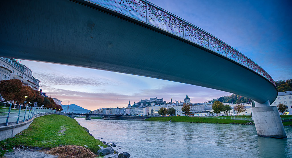 Sunrise at Makartsteg, Salzburg, Austria